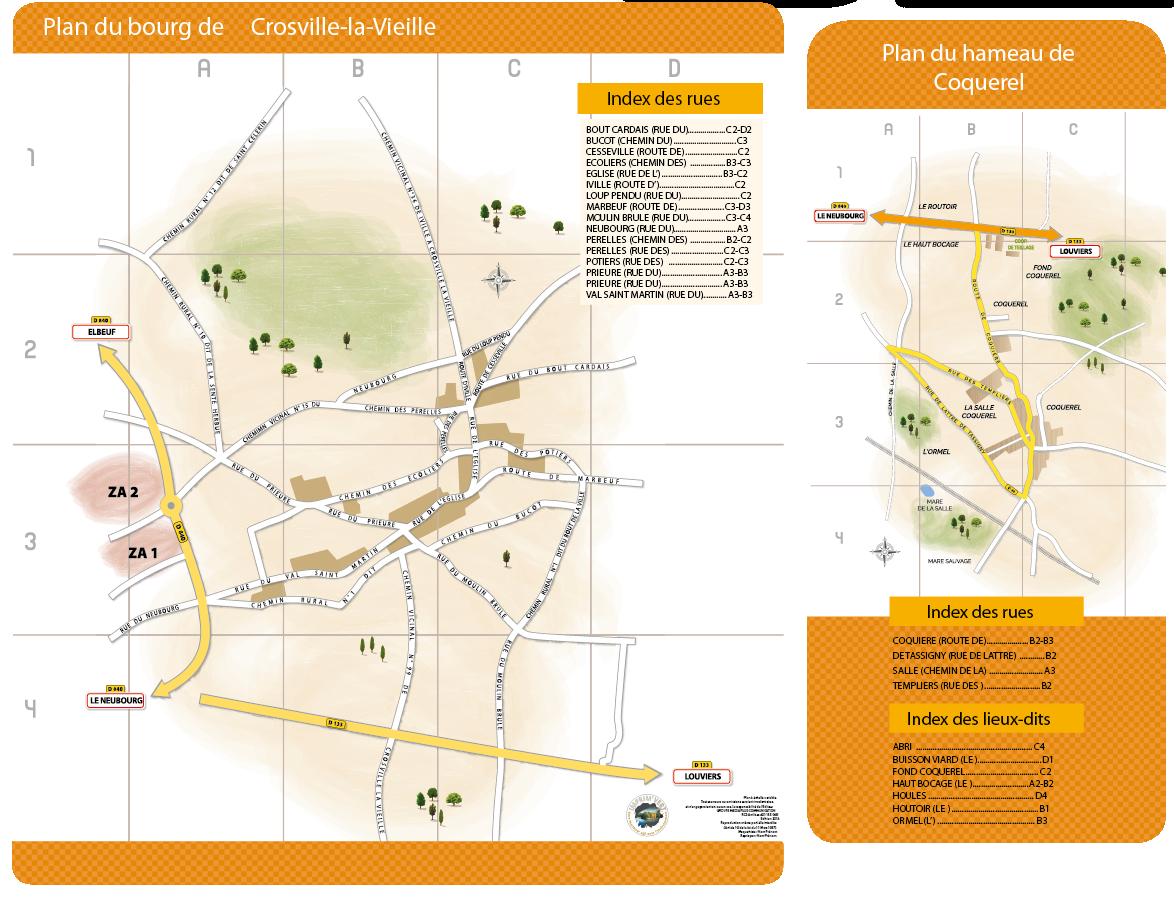CROSVILLE LA VIEILLE plan guide